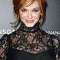 Christina Hendricks Wearing A Dolce & by Everett