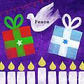 Christmas And Hanukkah Peace by Linda Woods