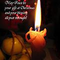 Christmas Candle Peace Greeting  by Ausra Huntington nee Paulauskaite