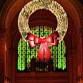 Christmas Card Wreath Color by Jost Houk