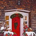 Christmas Decorations Around A Front by David Chapman