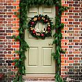 Christmas Door by Sally Weigand
