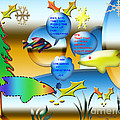 Christmas Fish Tank by Donna Brown