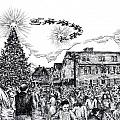 Christmas In Dock Square Rockport by James Oliver
