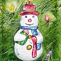 Christmas Tree Snowman by Jane Loveall