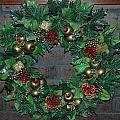 Christmas Wreath by LeeAnn McLaneGoetz McLaneGoetzStudioLLCcom