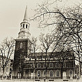 Christs Church Philadelphia In Sepia by Bill Cannon