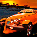Chrysler Plymouth Prowler Rocky Sunset by Chas Sinklier