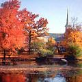 Church In Autumn by Susan Savad