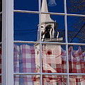 Church In Cafe Window by Andrea Simon