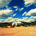 Church In Old Tuscon Arizona by Susanne Van Hulst