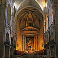 Church Interior Dordogne France by Dave Mills