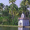 Church Located On A Coastal Lagoon In Kerala In India by Ashish Agarwal