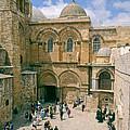 Church Of Holy Sepulchre Old City Jerusalem by Daniel Blatt
