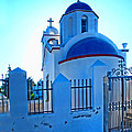 Church Oia Santorini Greece by Helaine Cummins