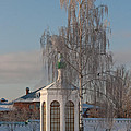 Church On A Frosty Day by Mikhail Pankov