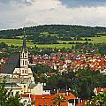 Church Spire In The Old Town Cesky by Trish Punch