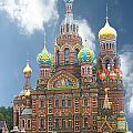 church St. Petersburg Russia by Marie Morrisroe
