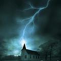 Church Struck By Lightning by Jill Battaglia