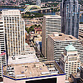 Cincinnati Aerial Skyline Downtown City Buildings by Paul Velgos