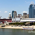 Cincinnati Ohio Skyline And Riverfront by Paul Velgos