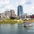 Cincinnati Skyline With Riverboat Photo by Paul Velgos