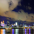 Cincinnati Skyscrapers Touch Clouds by Randall Branham