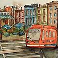 Cincinnati Streetcar by Elaine Duras