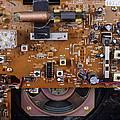 Circuit Board In A Portable Radio by Andrew Lambert Photography