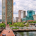 City - Baltimore Md - Harbor Place - Baltimore World Trade Center  by Mike Savad