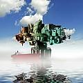 City At Sea, Artwork by Victor Habbick Visions