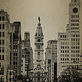 City Hall From North Broad Street Philadelphia by Bill Cannon