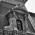 City Hall Window In Black And White by Bill Cannon