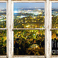 City Lights White Rustic Picture Window Frame Photo Art View by James BO  Insogna