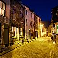 City Street At Night, Staithes by John Short