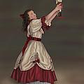 Clara With Nutcracker by Lisa Binion