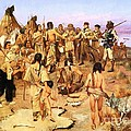 Clark Meets Northwest Indians by Pg Reproductions