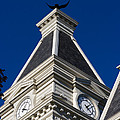 Clarksville Historic Courthouse Clock Tower by Ed Gleichman