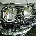 Classic Car - White Grill 1 by Anita Burgermeister