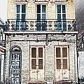 Classic French Quarter Residence New Orleans Colored Pencil Digital Art by Shawn O'Brien