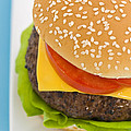 Classic Hamburger With Cheese Tomato And Salad by U Schade