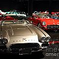 Classic Silver Corvette . 7d1840 by Wingsdomain Art and Photography