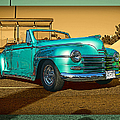 Classic Teal Convertible by Randy Harris