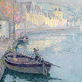 Clear Morning - Quimperle by Henri Eugene Augustin Le Sidaner