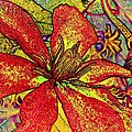 Clematis In Colored Pencil  by Chris Berry