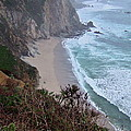 Cliffs And Surf On The California Coast by Susan Wyman