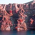 Cliffs Of Santorini by Ellen Holmes
