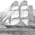 Clipper Ship, 1850 by Granger