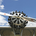Close-up Of Engine On Antique Seaplane Canvas Poster Print by Keith Webber Jr