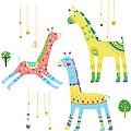 Close-up Of Giraffes by Eastnine Inc.